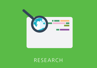 research concept flat icon