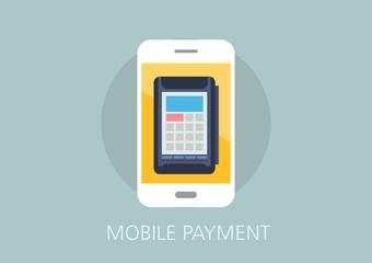 mobile payment concept flat icon