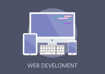 web development concept flat icon