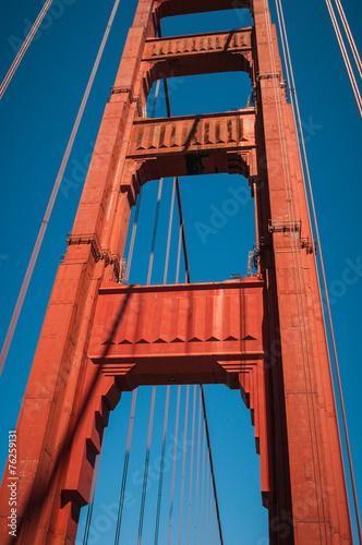 San Francisco Golden Gate Bridge Pillar