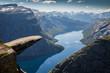 Leinwanddruck Bild - Trolltunga Norwegen