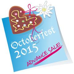 Octoberfest, advance sale