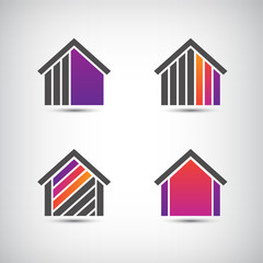 vector house logo for company