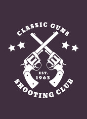Classic Guns emblem vector illustration, eps10, easy to edit