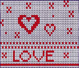 braided sewed  stitched  sutured love pattern