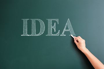 writing idea on blackboard