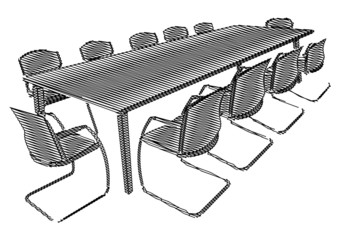 Esquisse d'une salle de réunion
