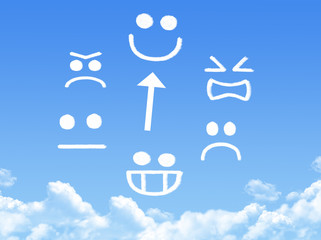 emotion from cloud in the blue sky