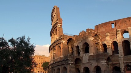 Coliseum In Rome at sunset, Italy.