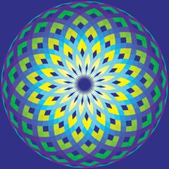 geometric ornament like stylized sunflower
