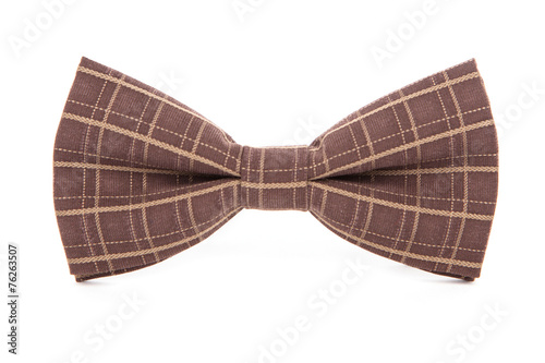 Bow tie isolated on white background.