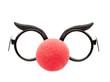Leinwandbild Motiv Brille  mit Clownnase