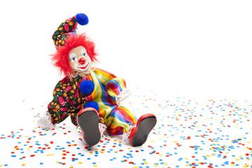 Clown mit Konfetti