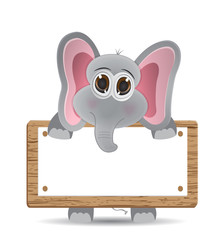 elephant and text board