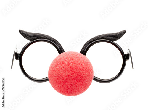 Leinwanddruck Bild Brille  mit Clownnase