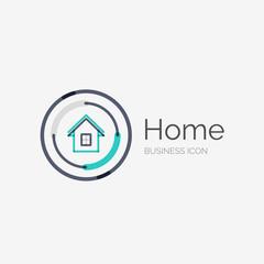 Thin line neat design logo, home idea