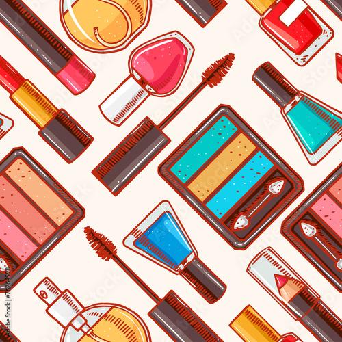 Materiał do szycia Bezszwowe ręcznie rysowane Kosmetyki dekoracyjne - 1