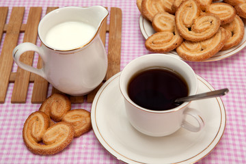 Pastries and tea