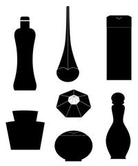 perfume black silhouette