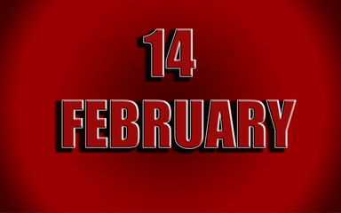 Happy Valentines Day background.14 February.