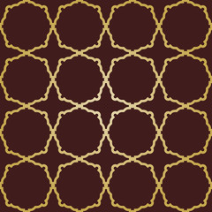 Geometric Seamless Vector Abstract Golden Grill