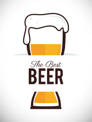 Beer design, vector illustration.