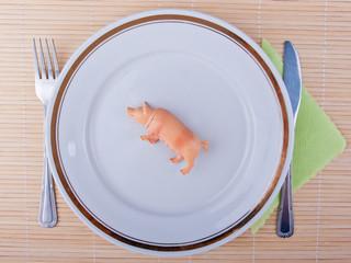 Pork meat concept