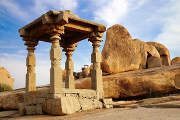 Ancient ruins of Temple. Hampi, India.