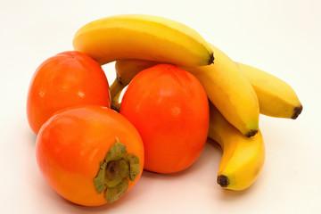 Bananas and kaki