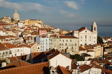 View from Alfama, Lisbon, Portugal.