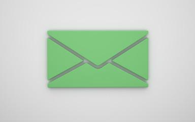 Letter icon 3d