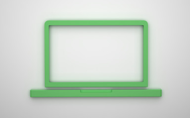 Laptop icon 3d