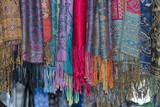 silk pashmina on display sand for sale