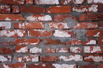 Стена из красных кирпичей