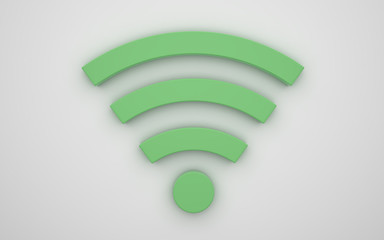 Wireless icon 3d