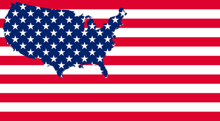 Unites states USA flag illustration