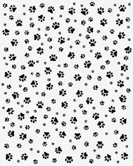 Black trace of cats, seamless vector wallpaper