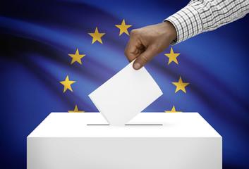 Ballot box with national flag - European Union - Europe - EU
