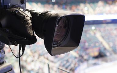 camera, TV broadcast hockey