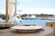 Leinwanddruck Bild - Gedeckter Tisch   Catering   Restaurant   Urlaub