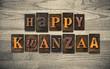 Happy Kwanzaa Wooden Letterpress Concept - 76268147