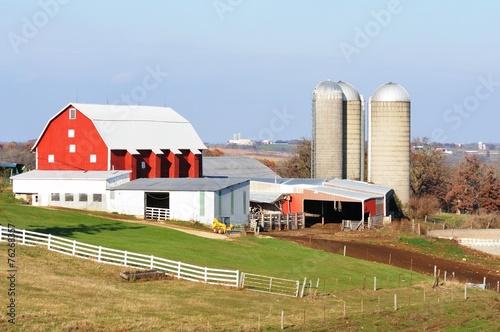 Farm with Silos