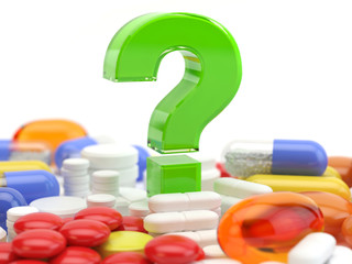 Pills with question mark