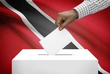 Ballot box with national flag - Trinidad and Tobago