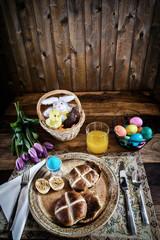 Rustic Easter Breakfast - Vertical