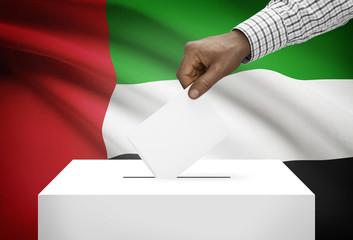 Ballot box with national flag - United Arab Emirates