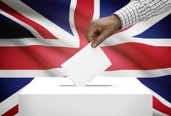 Ballot box with flag - United Kingdom of Great Britain