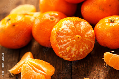 canvas print picture Fresh and sweet manadrins