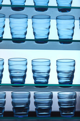empty blue glasses