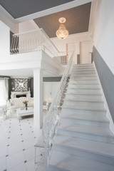 Beauty white stairs in home